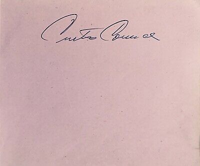 Curtis Counce 1926- 1963  Star Jazz Bassist Rare Autograph /