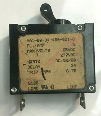 Carling Boat Toggle Circuit Breaker AA1-B0-34-610-5D1-CON//OFF 10A