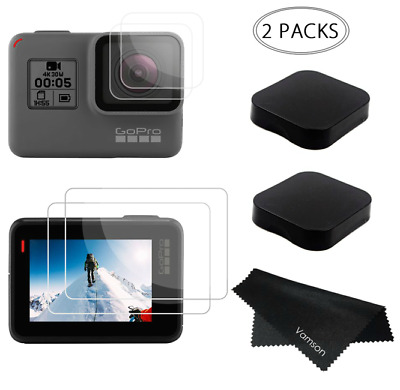 GoPro Hero 7 Black Tempered Glass Screen Protector Film Lens Protection Cover