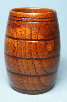 Decoration Collectable Handwork Boxwood Carving Natural Grain Auspicious Cup