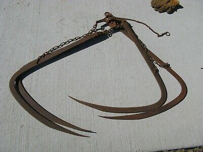 Vintage Cast Iron Myers Hay Grapple Hook farm barn local Pick up only