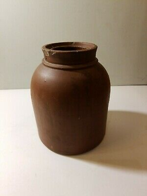 "Antique 19th C. Wax Sealer Crock Stoneware Pottery Jar 7"". See Photos."