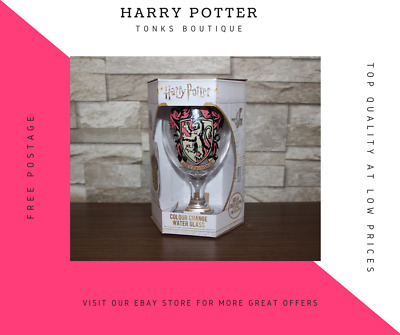 Official Harry Potter Colour Changing Water Glass / Cup with Box Present Gift
