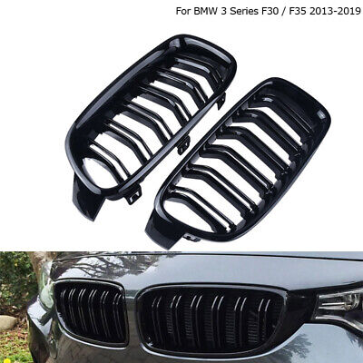 Racing Front Kidney Grille Gloss Black for BMW 3-Series F30 F31 F35 2012-2016