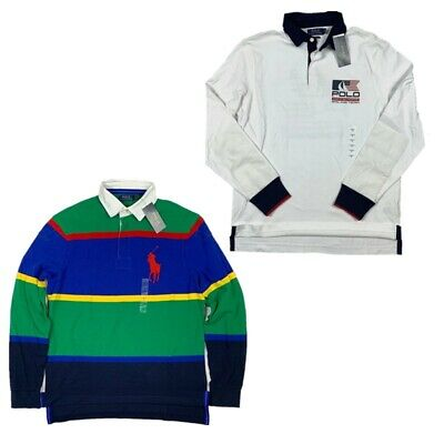 New Polo Ralph Lauren Men's Long Sleeve Rugby Shirt Classic Fit Vintage