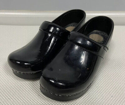 Dansko Clogs 36 Black Professional Leather