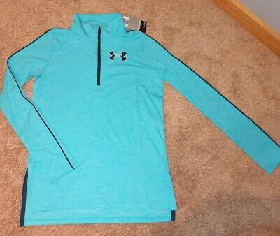 Girls Under Armour Size Youth Large loose fit  Quarter Zip Heat Gear NEW