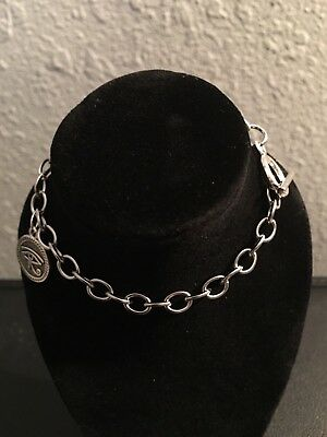 Egyptian Eye of Horus Wadjet Charm With Stainless Steel Toggle Clasp Bracelet
