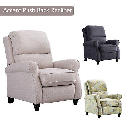 Modern Recliner Chair Easy to Push Back Accent Padded Seat Arm Chair Home Decor