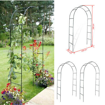 Metal Steel Garden Arch Rose Plant Flower Climber Path Home Archway Gate Arches
