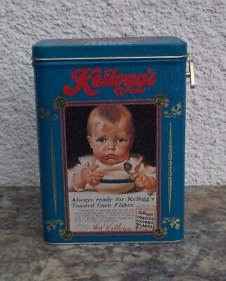 Vintage Kellogg's Corn Flakes Cereal Box Collector's Tin Advertising Music Box