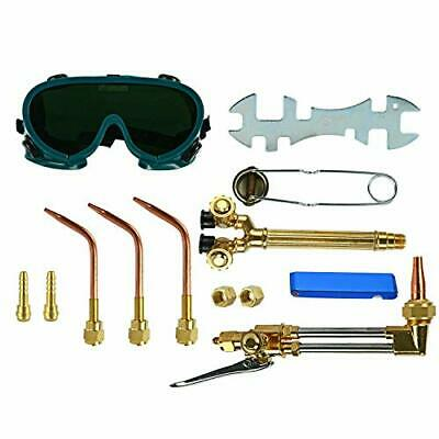 Gas Welding & Cutting Kit Acetylene Oxygen Torch Set Equipment + Welding Goggles