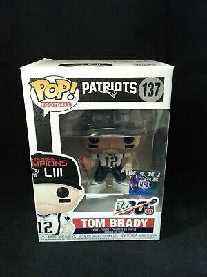 Funko Pop! Sports: NFL 100 - Tom Brady - Patriots (137) SB Champion LIII