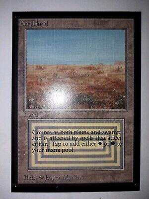 Mtg scrublands ice edition x 1 nr mint  condition