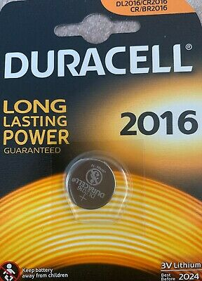 1x Duracell CR2016 3V Lithum Coin Cell Batteries Expiry 2024 Original Genuine