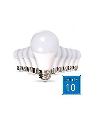 Lot de 10 Ampoules LED E27 9W équivalent 75W