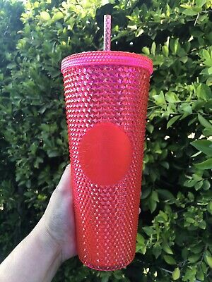 Holiday 2019 Starbucks Hot Pink Spiked Studded Tumbler Cold Cup