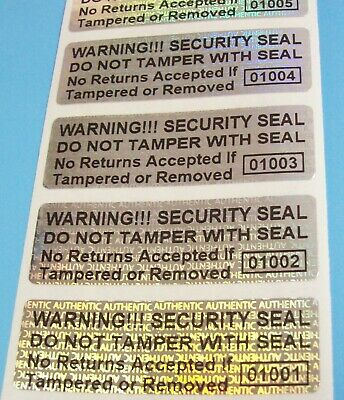 Authentic WARNING!! Security Seal Do Not Tamper Product Protection Hologram