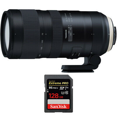Tamron SP 70-200mm F/2.8 Di VC USD G2 Lens (A025) for Canon + 128GB Memory Card