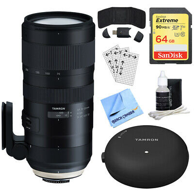 Tamron SP 70-200mm F/2.8 Di VC USD G2 Lens for Canon + 64GB Accessory Bundle