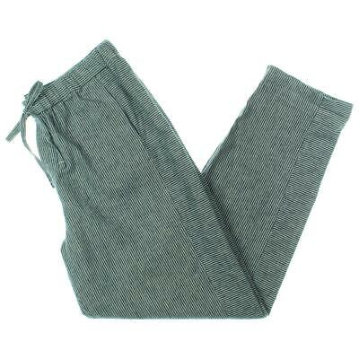 Vince Camuto Womens Blue Linen Striped Woven Casual Pants S BHFO 8552