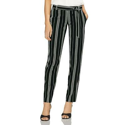 Vince Camuto Womens Striped Paper Bag Day to Night Straight Leg Pants BHFO 5746