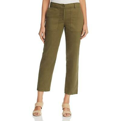 Eileen Fisher Womens Organic Cotton Cropped Trousers Ankle Pants BHFO 5675