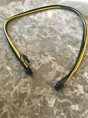 2FT 18AWG Mini 6 Pin Male To 8 Pin Male PCI-E Power Cable For Mac Pro Video Card