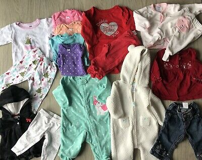 Baby Girl 3-6 months Gymboree Carter's Winter Clothes Sets Outfits Sleepers Lot