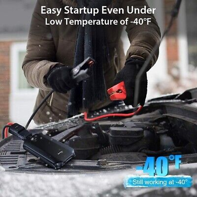 Premium Car Jump Starter Up to 4L Gas 2.5L Diesel Engine 12V Portable Power Pack