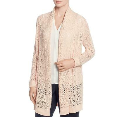 T Tahari Womens Open Front Open Stitch Long Sleeves Cardigan Top Shirt BHFO 5502