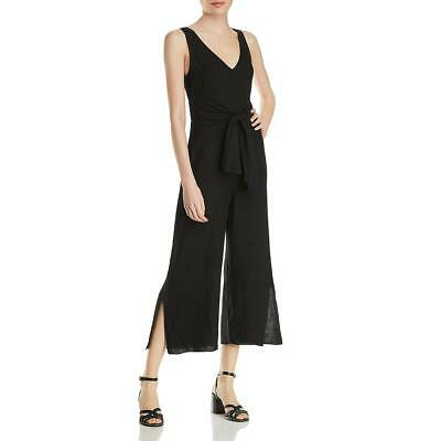 Three Dots Womens Split Leg Tie-Front Linen Jumpsuit BHFO 2479
