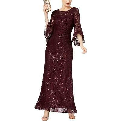 Betsy /& Adam Womens Purple Halter Evening Formal Dress Gown Petites 4P BHFO 7634