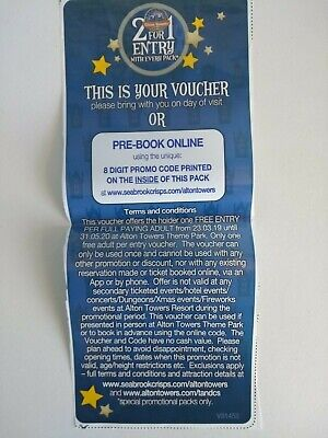 2for1 Alton Towers Code or Voucher (Merlin Theme Park Discount Cheap Tickets)