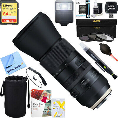 Tamron SP 150-600mm F/5-6.3 Di VC USD G2 Zoom Lens for Canon + 64GB Ultimate Kit