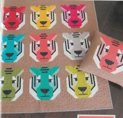 Antonia Tiger - fun modern pieced quilt PATTERN - Elizabeth Hartman