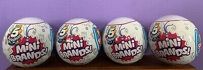 Zuru 5 Surprise Mini Brands - 4 Balls - In Hand - New In Package - Free Shipping
