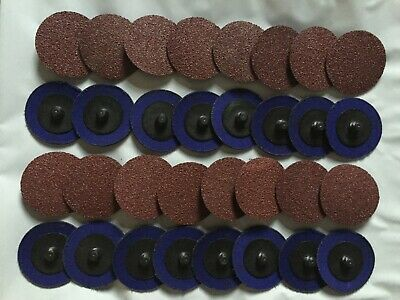 "2"" Inch Premium Roloc Roll Lock Abrasive Grinding Disc Pad 36 40 60 80 120 Grit"