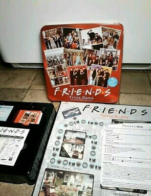RARE Friends TV Show Trivia Game Cardinal Red Collectible Tin, 100% complete!!!
