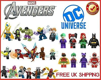 Lego and Custom Marvel Avengers SuperHero Mini Figures Endgame Series UK -CHOOSE