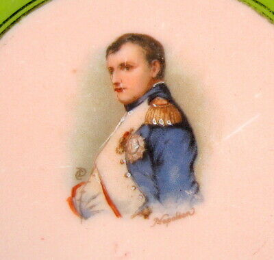 Historic Antique French Napoleon And Josephine Dinner Plate Set France Military