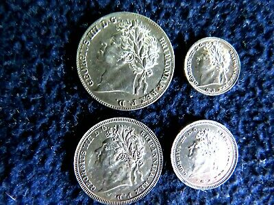 HIGH GRADE PL 1824 Great Britain George IV Maundy Silver 4 Coin Set