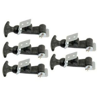 Set of Five (5)- Hood Hold Down Latch Kits w/ Brackets & T-Handle Grip S8390