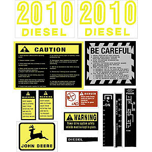 Hood Decal Set For John Deere Tractor 2010 JD2010