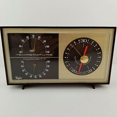 Vintage Taylor Instruments Temperature Humidity Barometer Weather Station