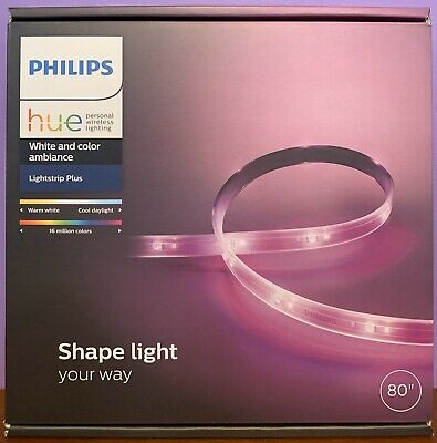 """NEW Philips HUE 80"""" Lightstrip Plus White & Color Ambiance Dimmable LED 800276"""