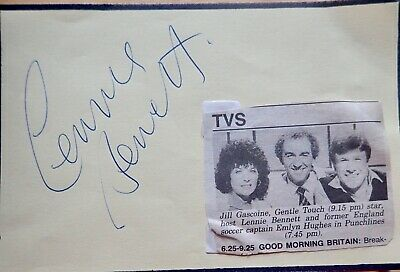 Lennie Bennett UK Comedian and Actor Original Signed Autograph Page