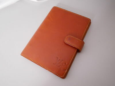Louis Vuitton Nomade Agenda PM Day Planner Cover Brown R20474 LV Auth #3399P