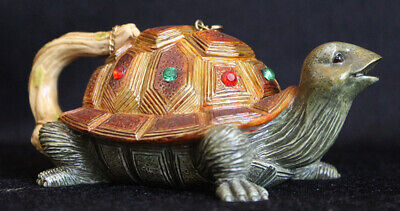 Nini Collectable Teapot - Bejewelled Turtle - Rare and Hard to Find