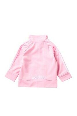 adidas Girls Child Kids Track Suit Running Sport Jacket - Light Pink Size 3M